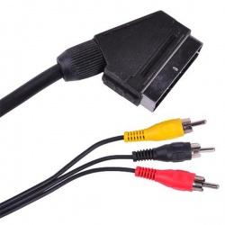kábel SCART -3x CINCH konektor 5m