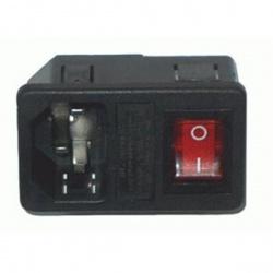 napájacia zástrčka na panel+ spínač 230V