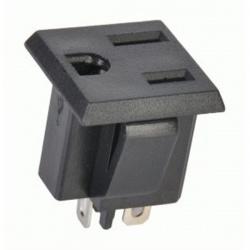 napájacia zásuvka na panel,230V /USA/