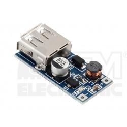 step-UP menič nastaviteľný 0.9V-5V USB