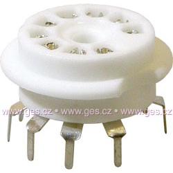 elektrónková pätica noval ker. do PCB