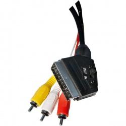kábel SCART-3RCA 1,5m