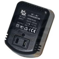 adaptér MW 2P045 230V/110V 45W