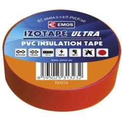 páska izol.PVC 15/10 červená