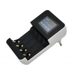 nabíjačka s LCD displ 4x , mikroproc.