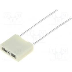 Kondenzátor fóliový 10nF/100V RM5