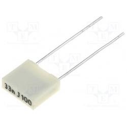 Kondenzátor fóliový 33nF/100V RM5