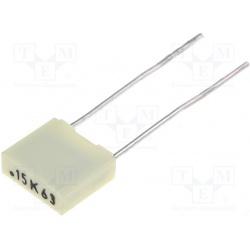Kondenzátor fóliový 150nF/63V RM5