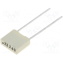 Kondenzátor fóliový 220nF/63V RM5