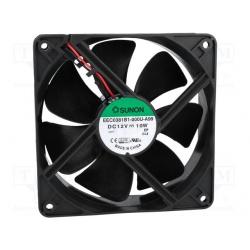 Ventilátor 120x38 12VDC GUL.