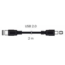 kábel  USB 2,0 A KON. - B KON. 2M S 3701