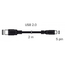 kábel USB 2,0 A KON. - MINI USB 1,8M S 3703