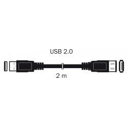 kábel USB 2.0 A KON.-A ZDIE.2M S3702
