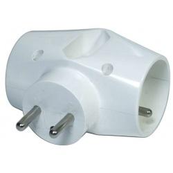 zásuvka rozbočovacia biela 3x P0023