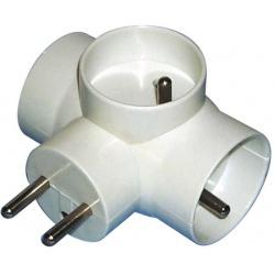 zásuvka rozboč.biela 3x okrúhla P0024