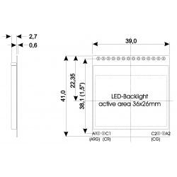 led podsvietenie EA LED39x41-GR na objednávku