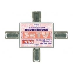 anténny rozbočovač 3xTV IEC