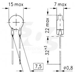 termistor S237/1 9A/1R