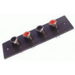 RZ008 Zásuv.RCA na pan.štvoritá