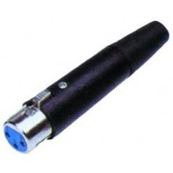 Zásuvka XLR.3p kovová čirna na kábel