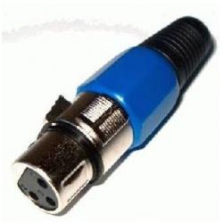 Zásuvka XLR 3PIN modrá na kábel