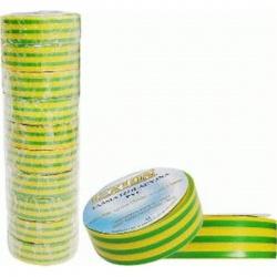 páska izol.PVC 15/10 zelená-žltá