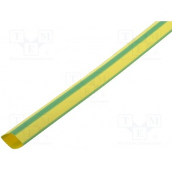 bužírka zmrštiteľná 4,8mm, žlto-zelená