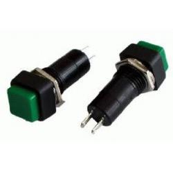 SP012-2 Tlač.spínač-štvorhranný zelený