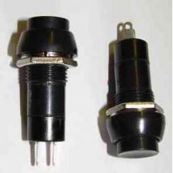 SP013-1 Tlač.spínač-okrúhly čierny