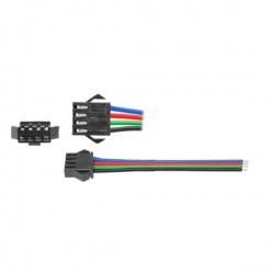 konektor s kábl. pre RGB pásy - zdierka