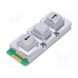 klávesnica univerzálna  AB103-MARS-WP kovová