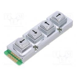klávesnica univerzálna  AB104-MARS-WP kovová