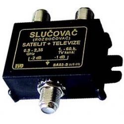 zlučovač +rozbočovač TV/SAT IVO SA03-S