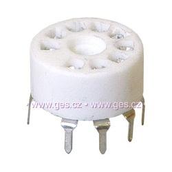 elektrónková pätica noval plast. do PCB