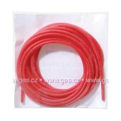 bužírka silikónová d0,5x0,2mm červená 1m